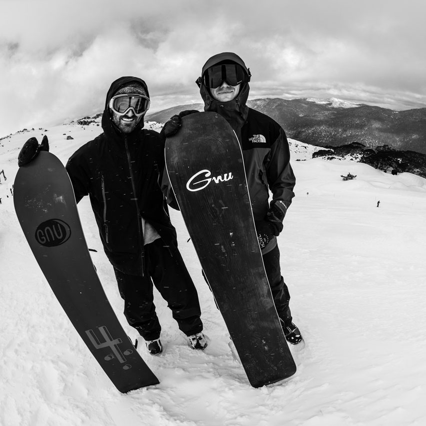 Forest Bailey and Blake Paul for GNU snowboards