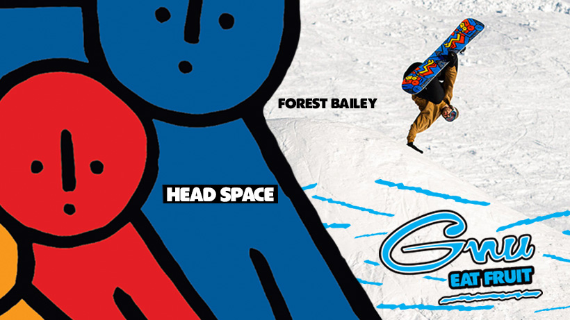 Gnu Head Space snowboard by Forest Bailey