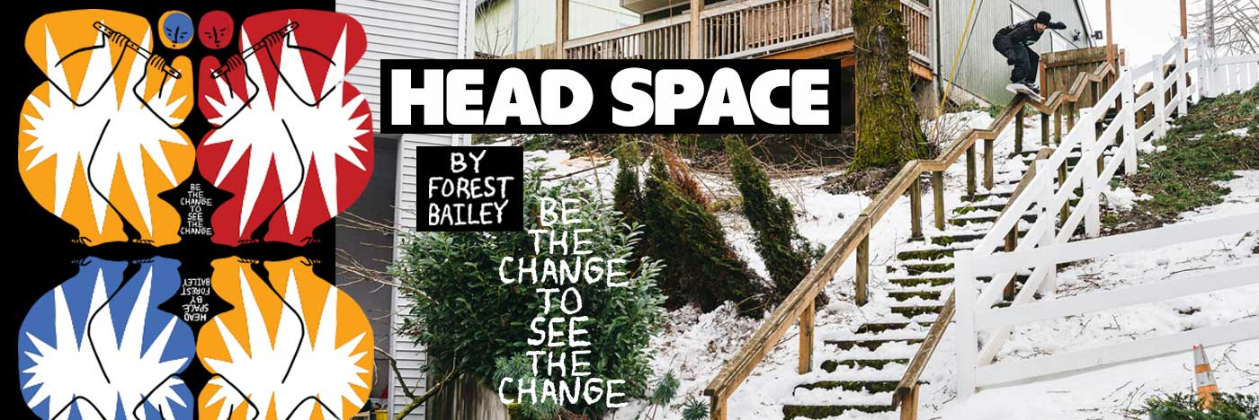 2021 - 2022 GNU Head Space Snowboard by Forest Bailey