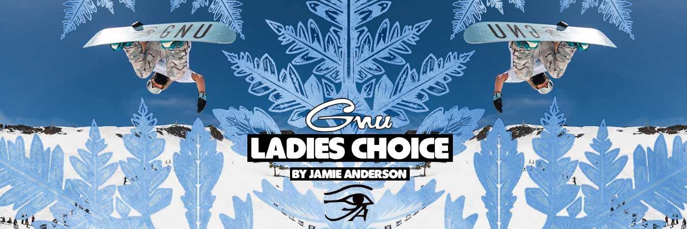 2021 - 2022 GNU Ladies Choice Women's Snowboard by Jamie Anderson