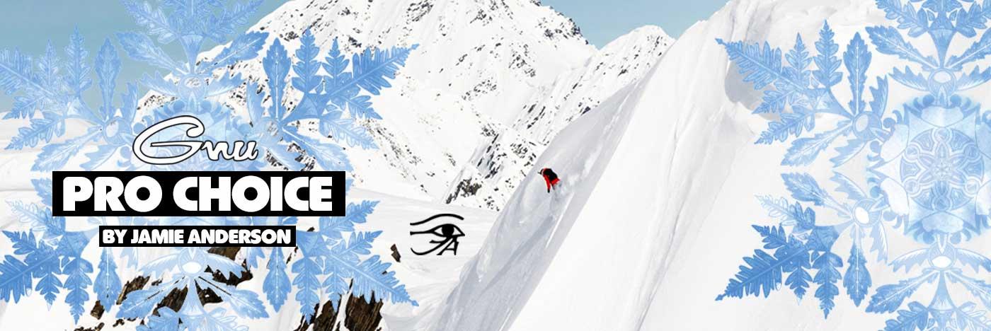 2021 - 2022 GNU Pro Choice Women's Snowboard by Jamie Anderson