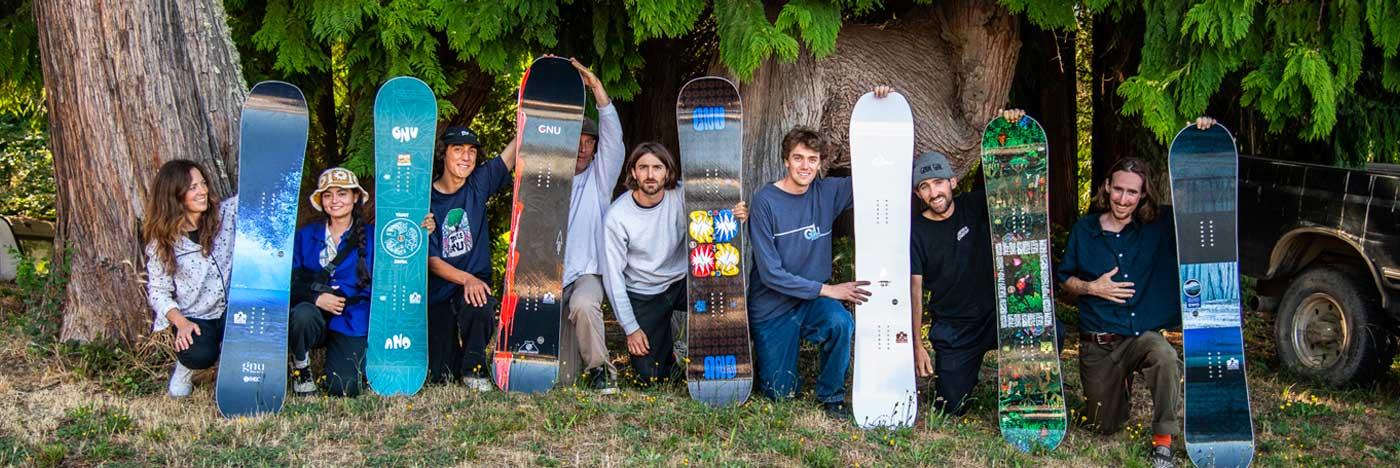 Gnu Snowboarding Team Squad
