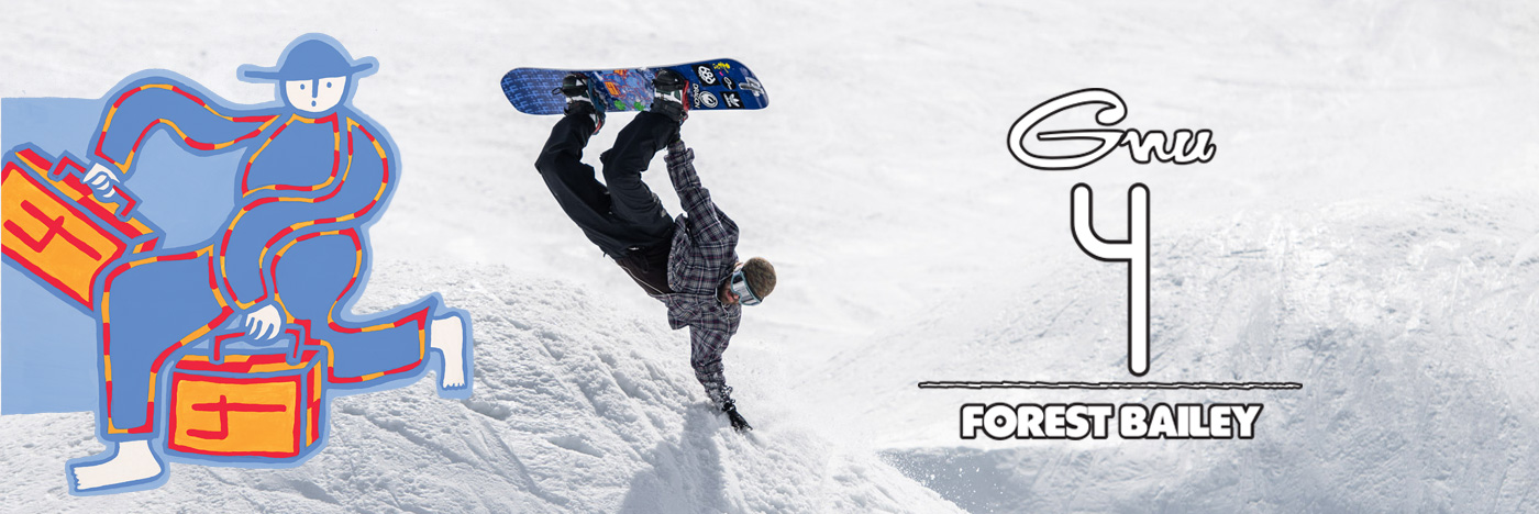 GNU 4 snowboard by Forest Bailey