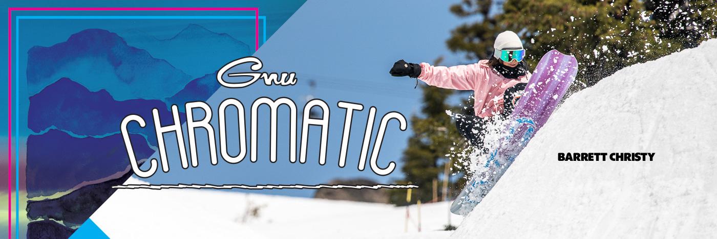 Chromatic women's snowboard by GNU snowboards
