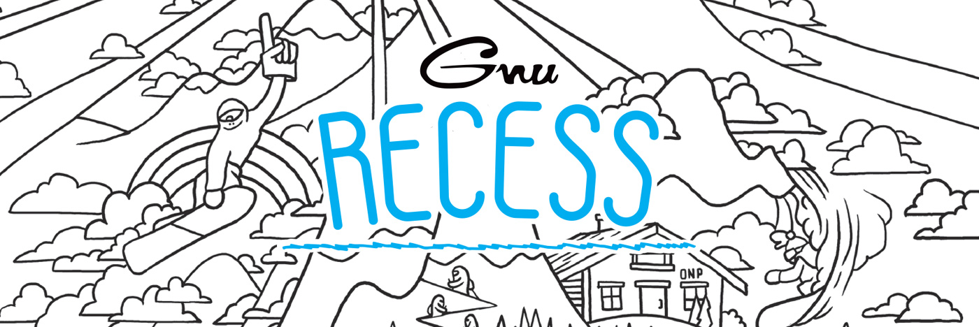 GNU snowboards Recess kids snowboard