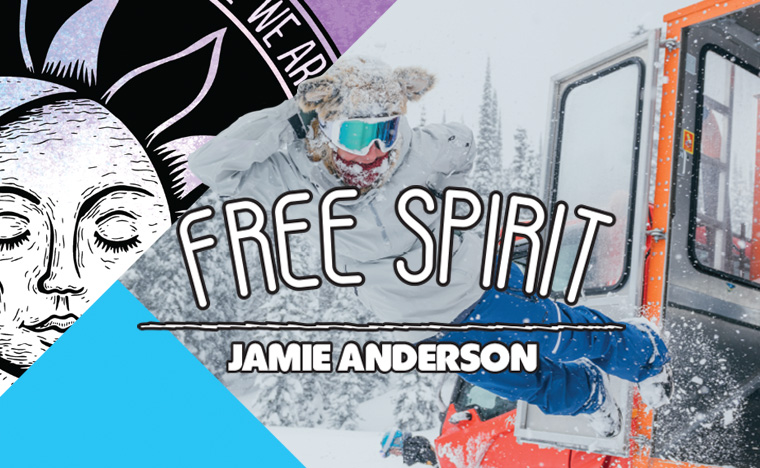 GNU Free Spirit by Jamie Anderson women's snowboard