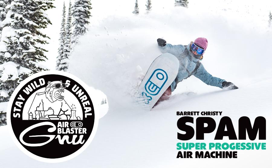 GNU SPAM snowboard